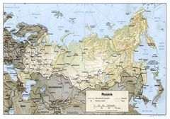Russia Map Physical