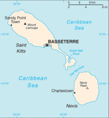 Saint Kitts And Nevis Cia Wfb Map
