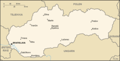 Slovakia Map Norsk
