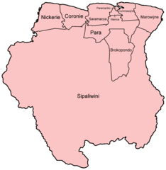 Suriname Districts Named