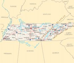 Tennessee Reference Map
