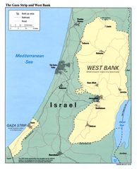 The Gaza Strip And West Bank Map
