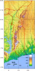 Togo Topography