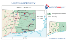United States House of Representatives, Connecticut District 2 Map