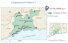 United States House of Representatives, Connecticut District 3 Map