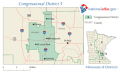 United States House of Representatives, Minnesota District 5 Map
