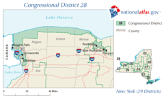 United States House of Representatives, New York District 28 Map