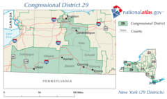 United States House of Representatives, New York District 29 Map