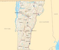 Vermont Reference Map