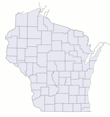 Wisconsin Counties Blank Map