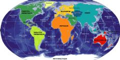 World Oceans And Continents